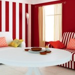 5.minimalist-living-room-design-ideas-with-red-and-white-stripes-wall-color-decorating-and-white-sofa-945x590